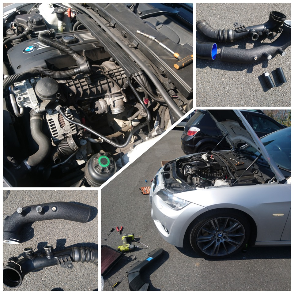 BMW 335i intercooler charge pipe replacement image